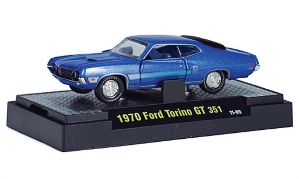 ford torino gt 351 blau 1970 mcw modellauto 1 64 kaufen. Black Bedroom Furniture Sets. Home Design Ideas