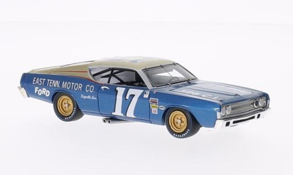 Ford Torino 1/43 Spark No.17 East Tenn. Motor Co. Darlington 400 1968 miniature