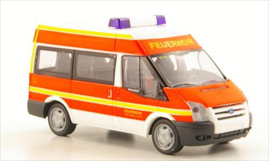Miniature Ford Transit Bus 06 Feuerwehr Wulfrath Rietze. Ford Transit Bus 06 Feuerwehr Wulfrath miniature 1/87