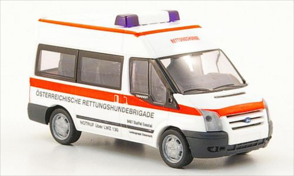 Ford Transit 1/87 Rietze Bus Rettungshundebrigade (AT) 2006 miniature