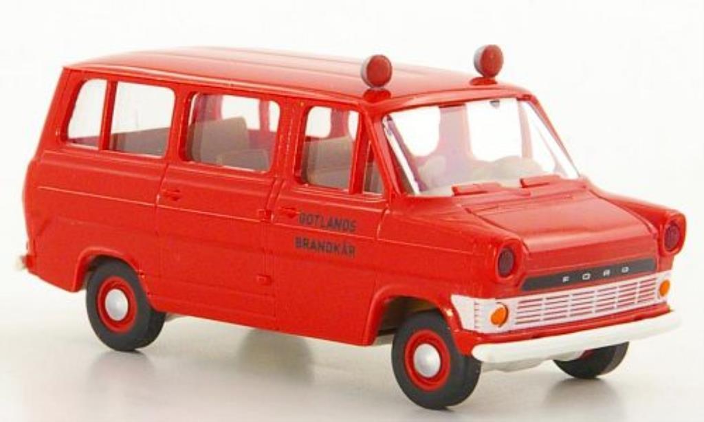 Ford Transit 1/87 Brekina IIa Kombi Gotlands Brandkar Feuerwehr (S) miniature