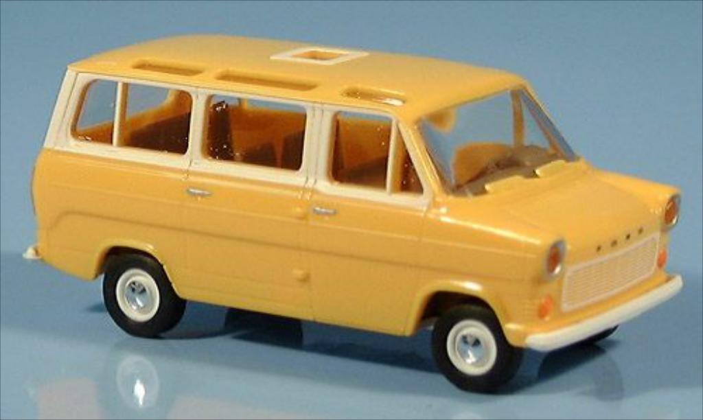 Ford Transit 1/87 Brekina IIb Panoramabus jaune 1970