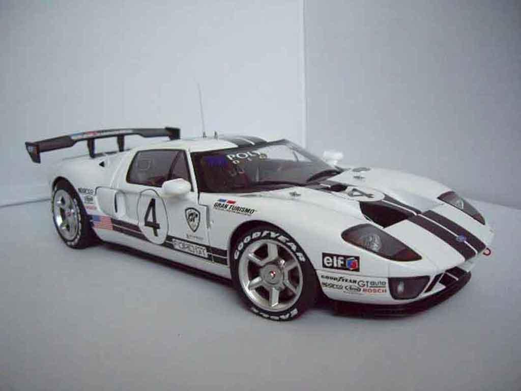 Ford Gt Miniature Lm Spec Race Car 4 Autoart 1 18