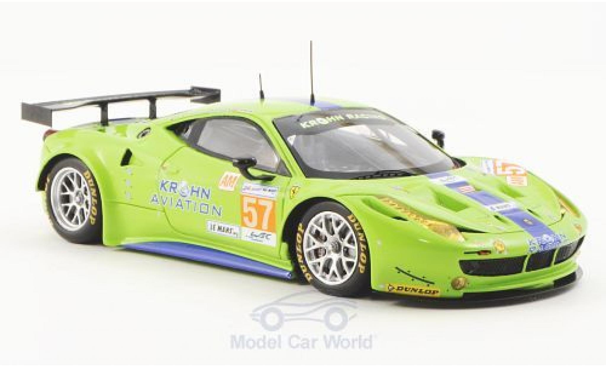Ferrari 458 Italia GT2 1/43 Fujimi Italia GT2 No.57 Krohn Racing 24h Le Mans 2012