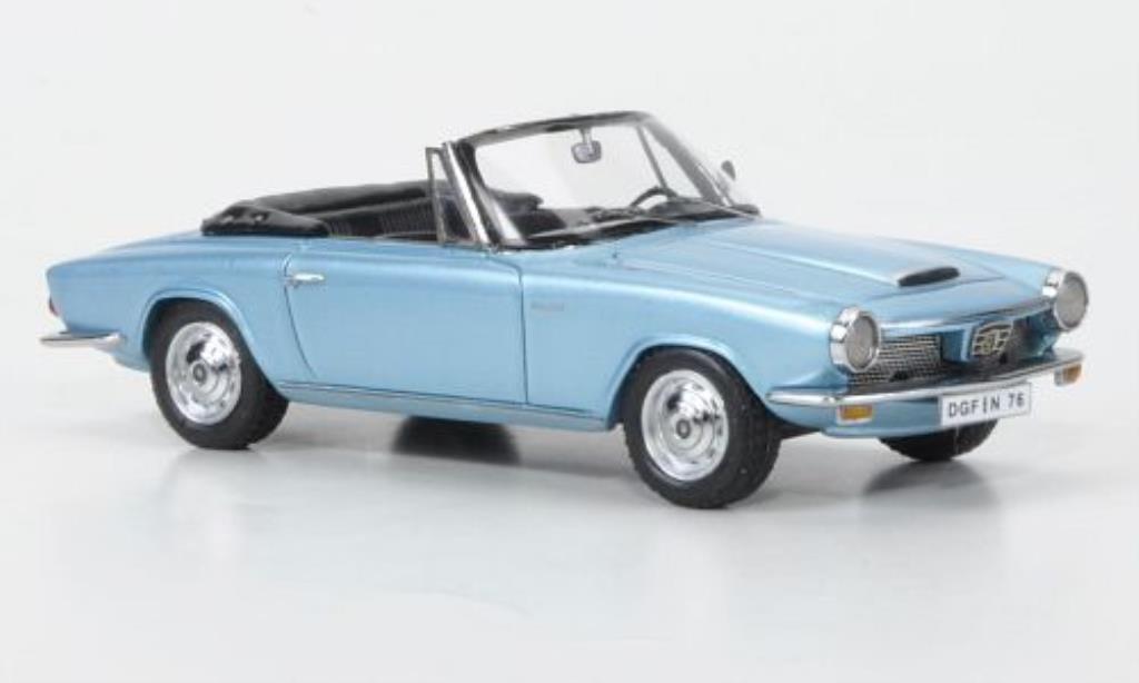 Glas 1300 1/43 Neo GT Cabriolet bleu 1966 miniature