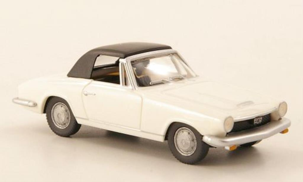 Glas 1700 1/87 Wiking GT Cabrio blanche miniature
