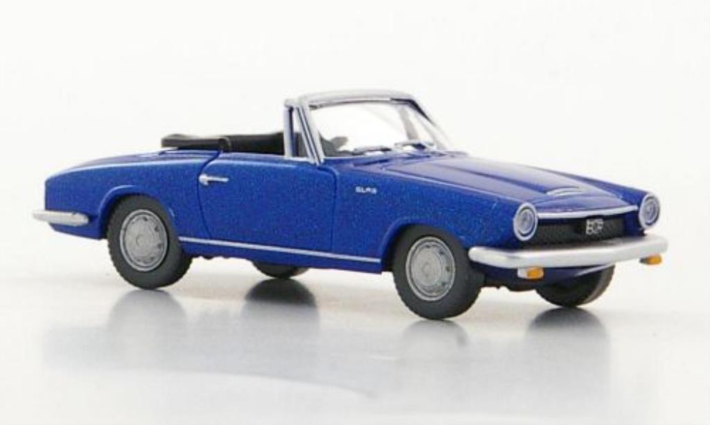 Glas 1700 1/87 Wiking GT Cabriolet bleu miniature