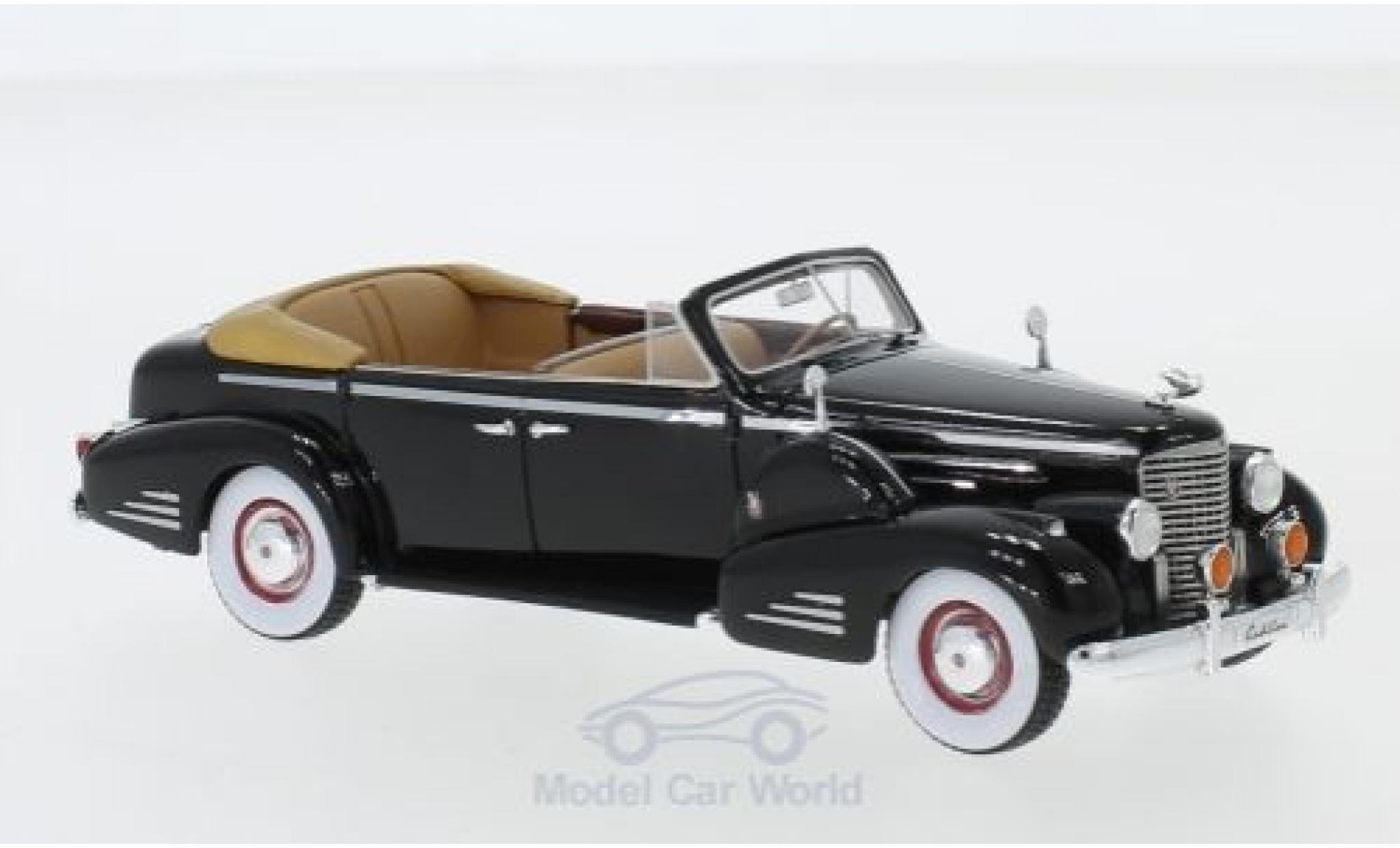 Cadillac V16 1/43 GLM Series 90 Fleetwood Sedan Convertible noire 1938