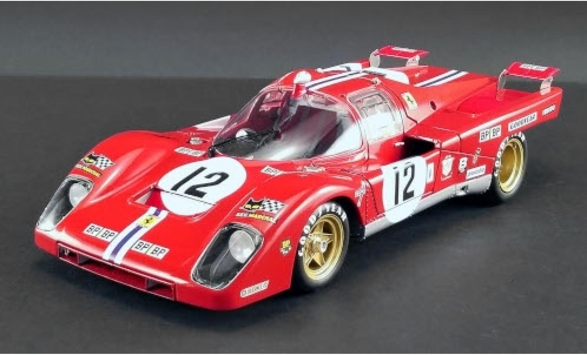 Ferrari 512 1/18 GMP ACME M RHD No.12 N.A.R.T. - North American Racing Team 24h Le Mans 1971 Masterpiece Collection S.Posey/T.Adamowicz