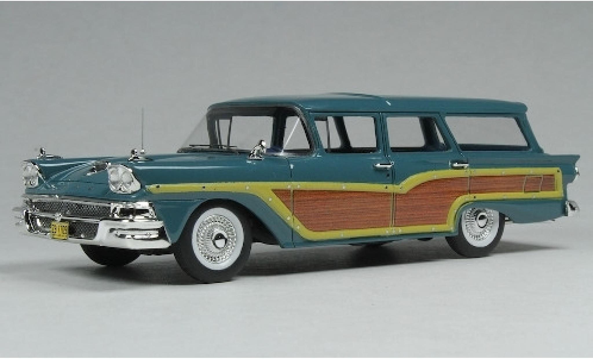 Ford Country Squire 1/43 Goldvarg Collections bleue/Holzoptik 1958