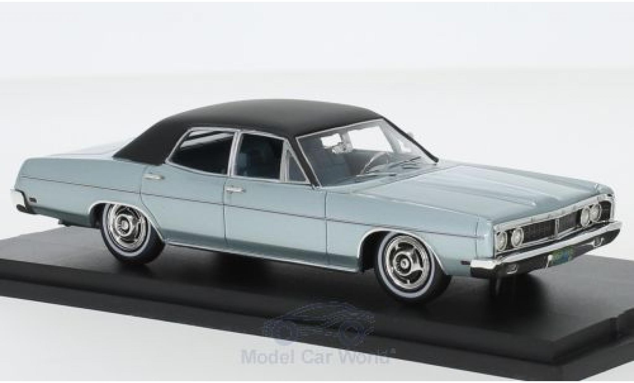 Ford Galaxy 1/43 Goldvarg Collections Galaxie metallise grise/noire 1970