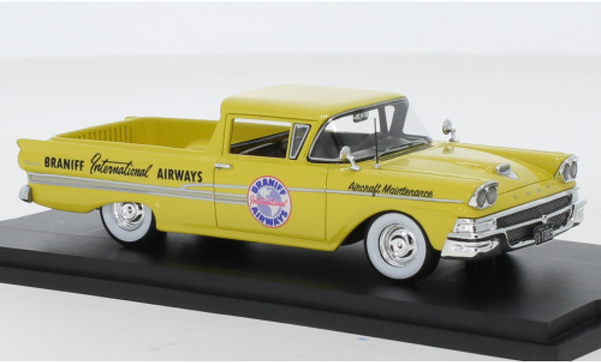 Ford Ranchero 1/43 Goldvarg Collections Braniff International Airways 1958
