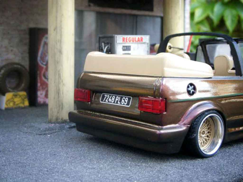 volkswagen golf 1 cabriolet miniature karmann sun star 1 18 voiture. Black Bedroom Furniture Sets. Home Design Ideas