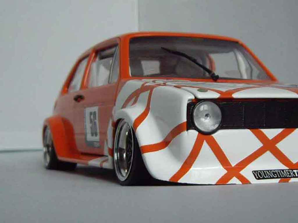 Volkswagen Golf 1 GTI 1/18 Solido Berg Cup kit large tuning modellautos