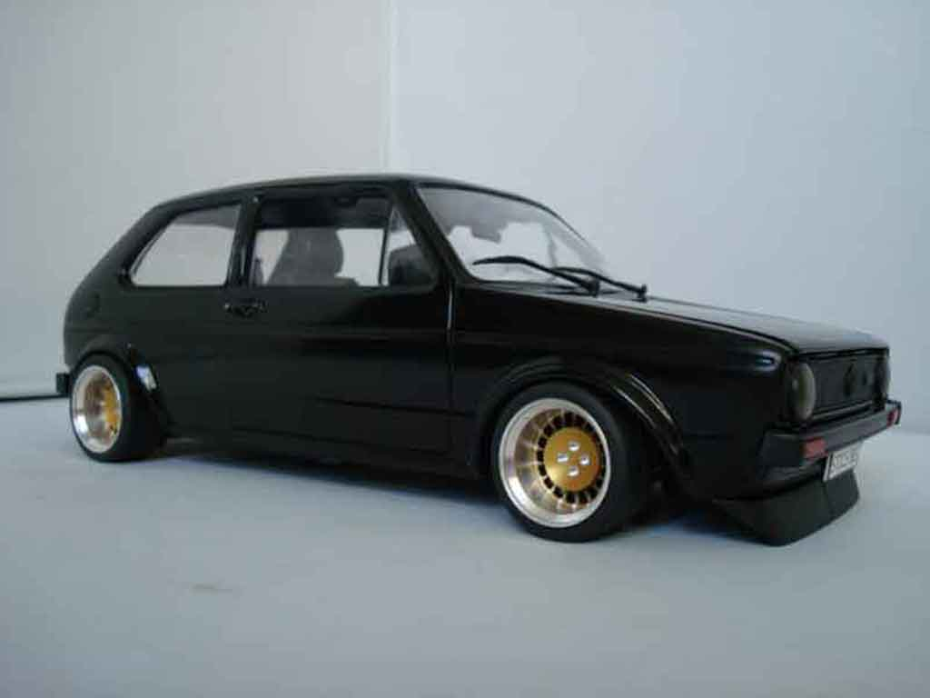 Volkswagen Golf 1 GTI 1/18 Solido German Look jantes bords larges tuning coche miniatura