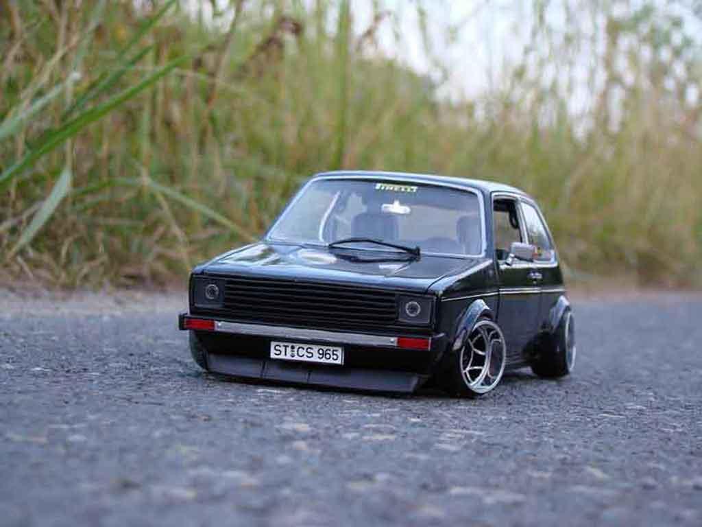 Idee idee tuning interieur : Volkswagen Golf 1 GTI jantes ATS miniature german look Solido 1/18 ...