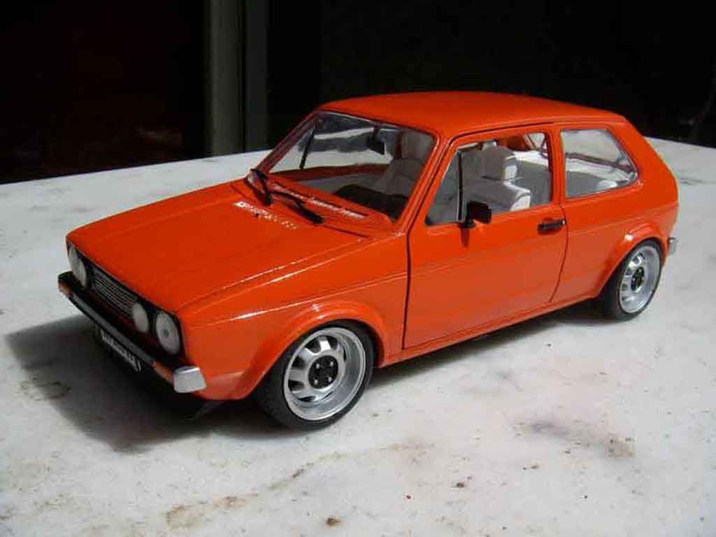 Volkswagen Golf 1 GTI 1/18 Solido jantes ATS 15 pouces orange tuning miniature