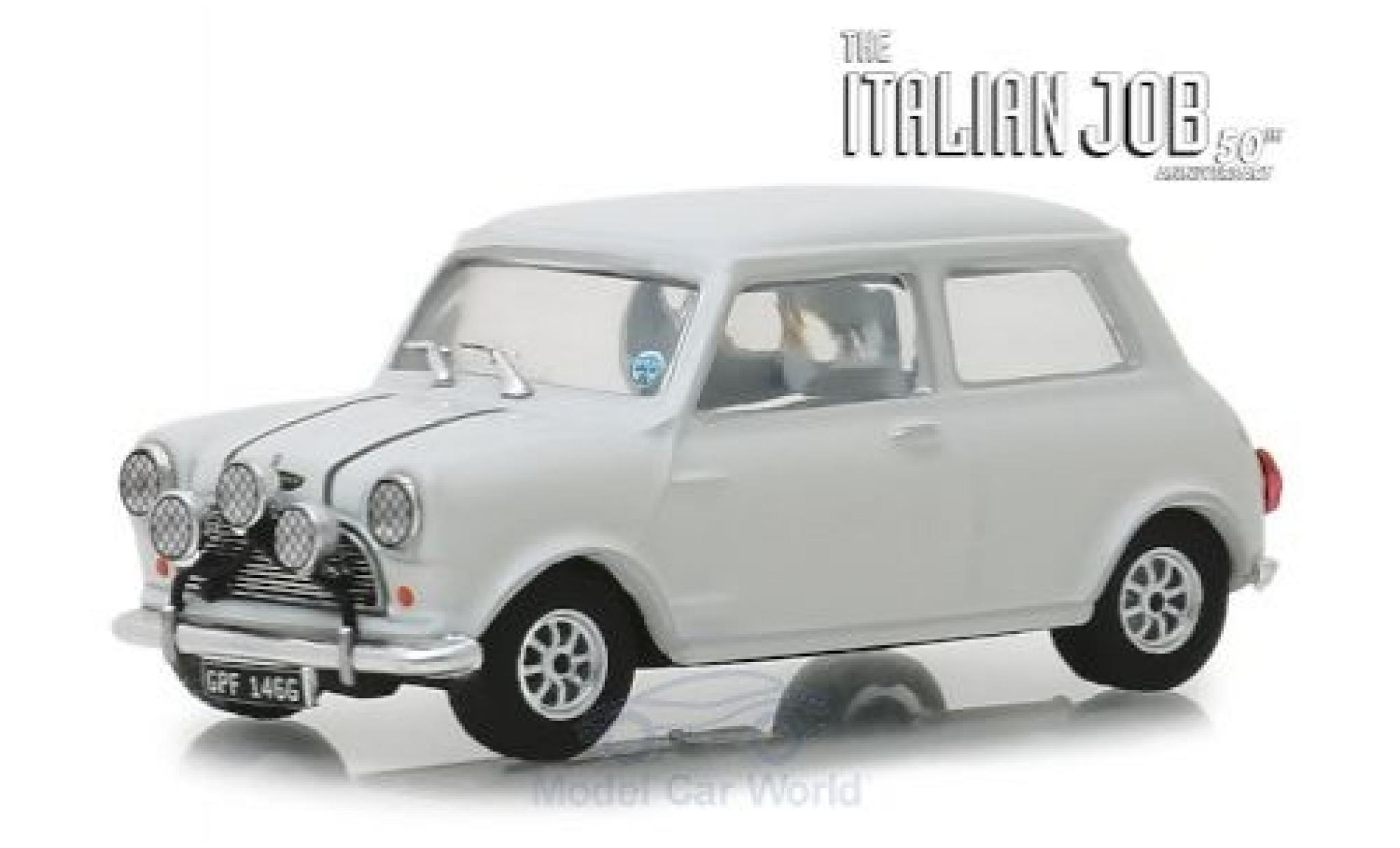 Austin Mini 1/43 Greenlight Cooper S 1275 MkI blanche RHD The Italian Job 1967