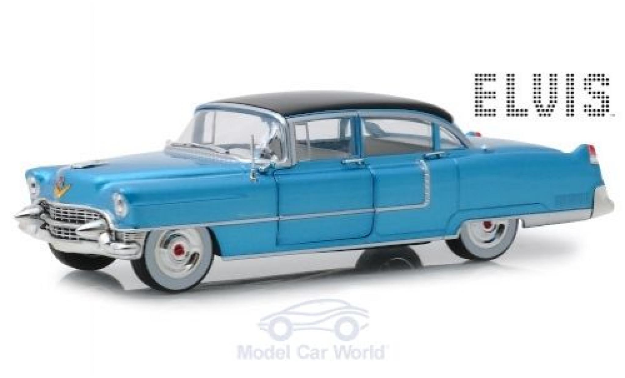 Cadillac Fleetwood 1/24 Greenlight Series 60 métallisé bleue/noire Elvis Presley 1955