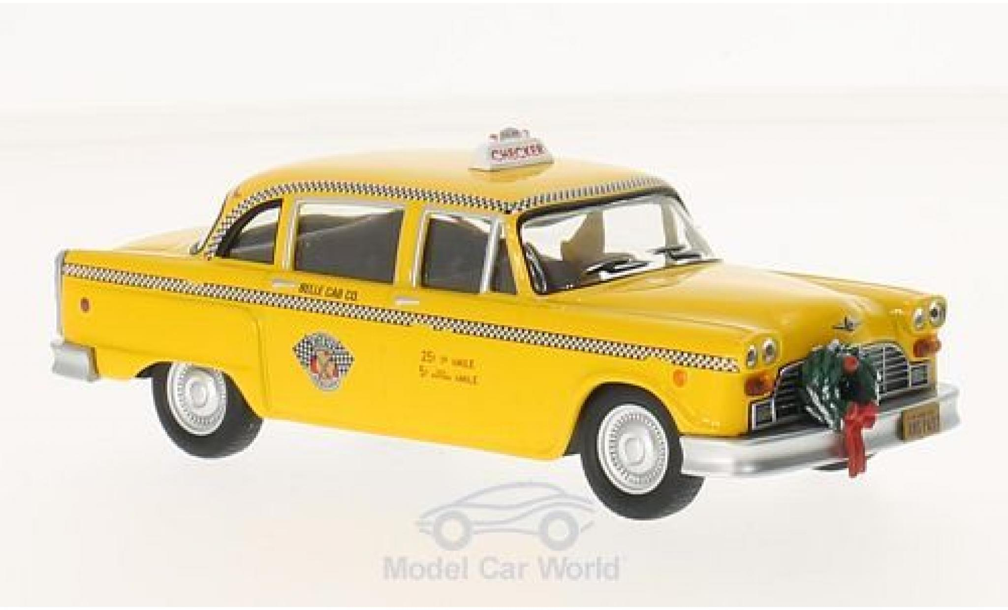 Checker Marathon 1/43 Greenlight jaune Scrooced 1978 Taxi