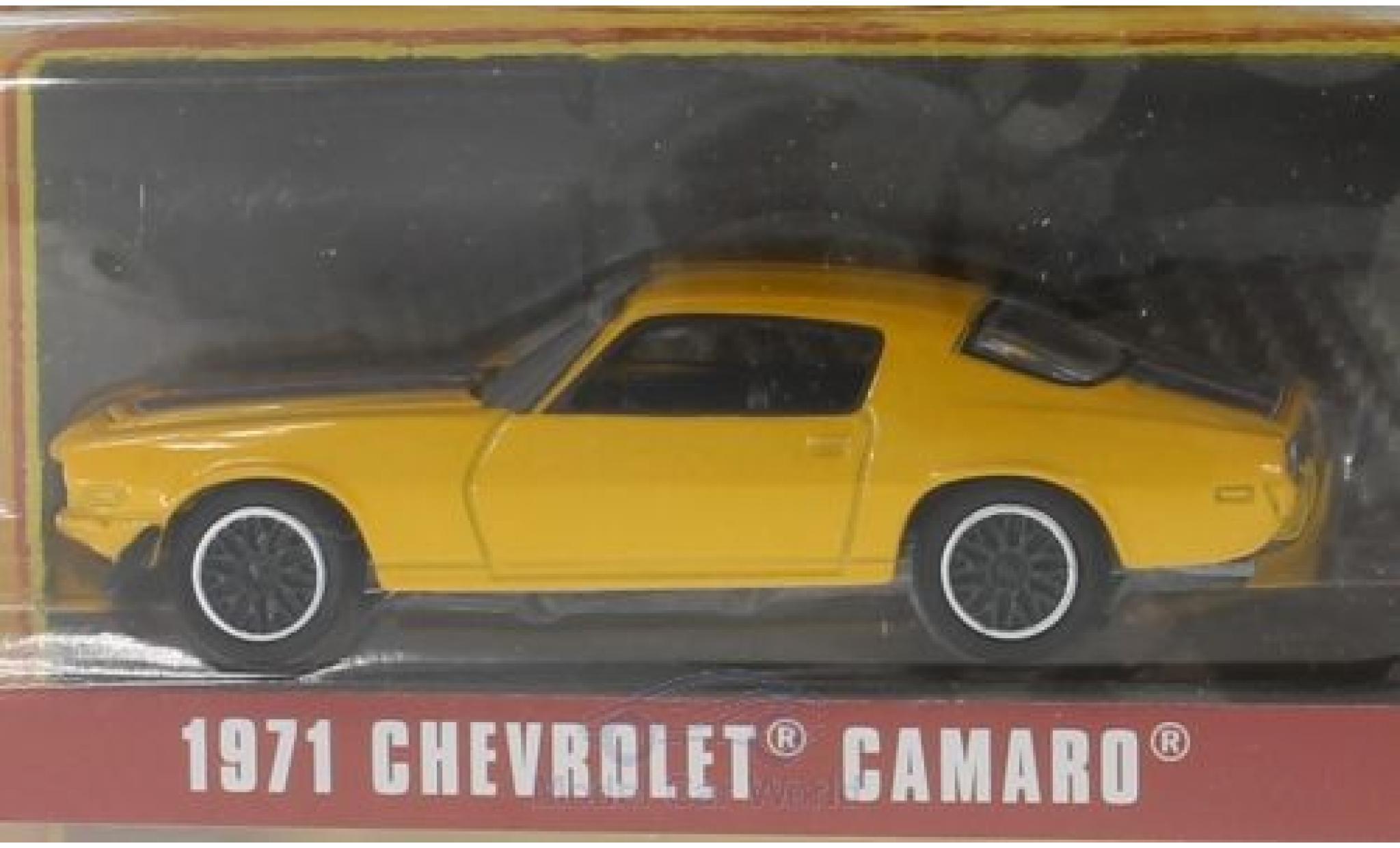 Chevrolet Camaro 1/64 Greenlight jaune 1971