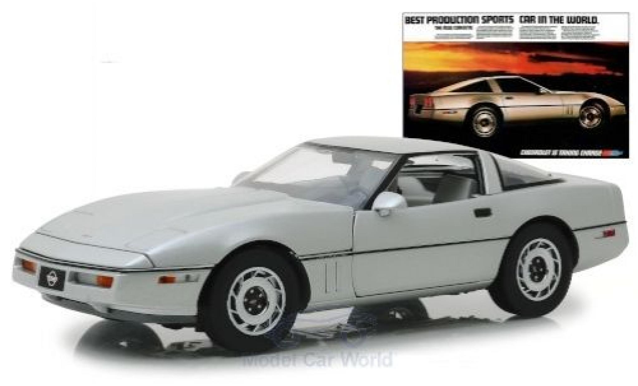 Chevrolet Corvette 1/18 Greenlight C4 grey 1984