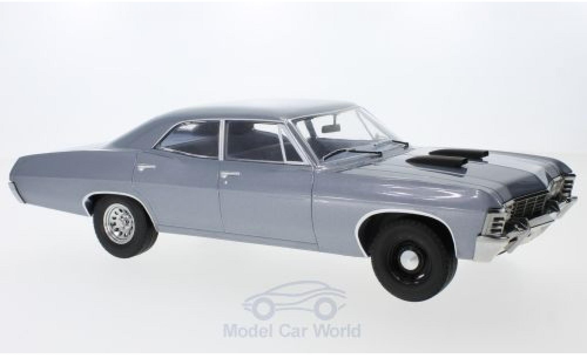 Chevrolet Impala 1967 1/18 Greenlight Sedan grise The A-Team