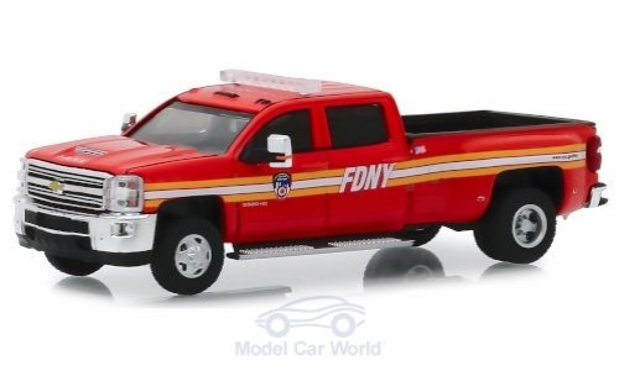 Chevrolet Silverado 1/64 Greenlight 3500HD FDNY 2018