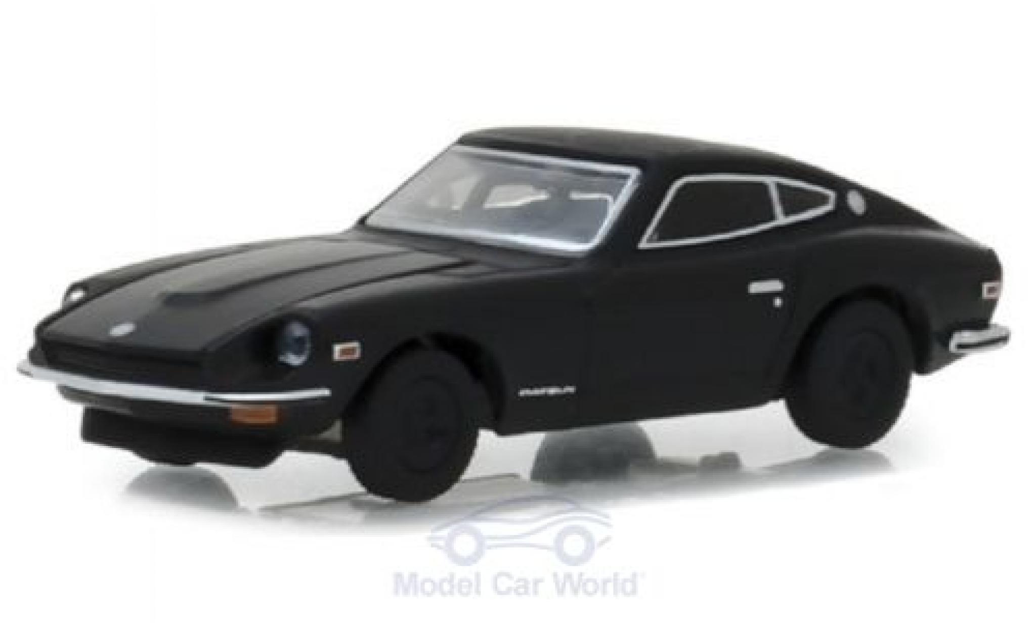 Datsun 240Z 1/64 Greenlight noire 1971