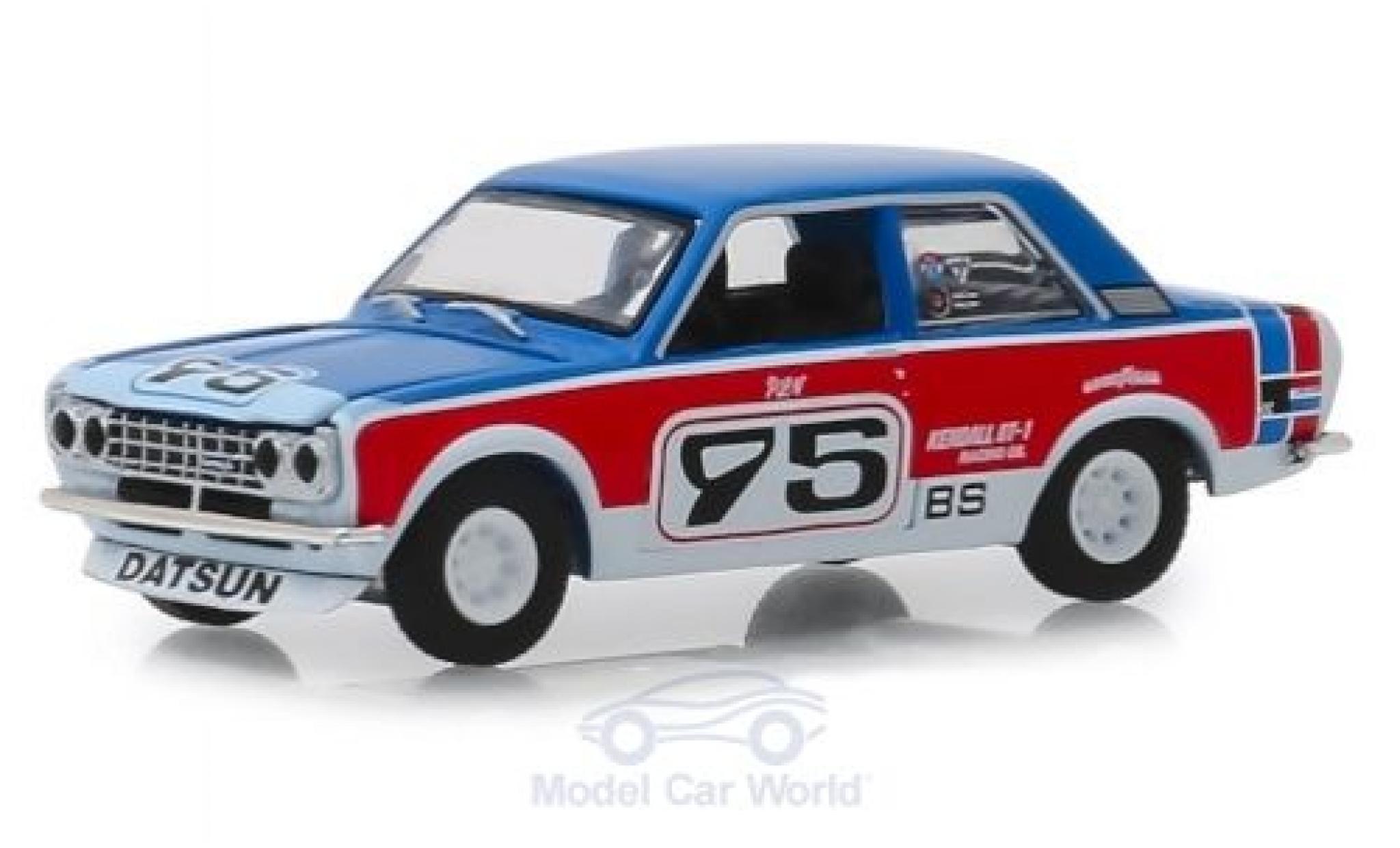 Datsun 510 1/64 Greenlight bleue/rouge 1973