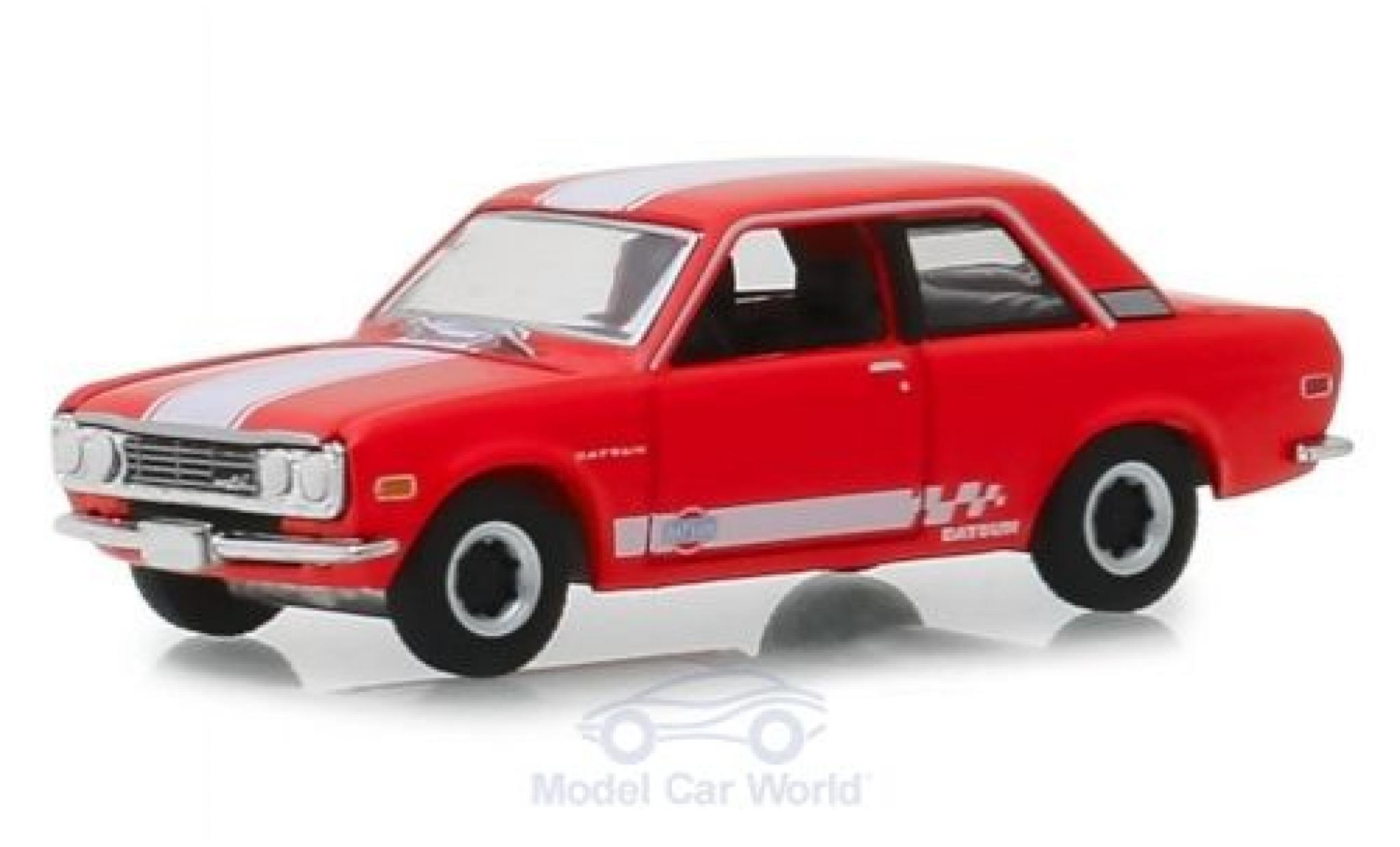 Datsun 510 1/64 Greenlight rouge/blanche 1970
