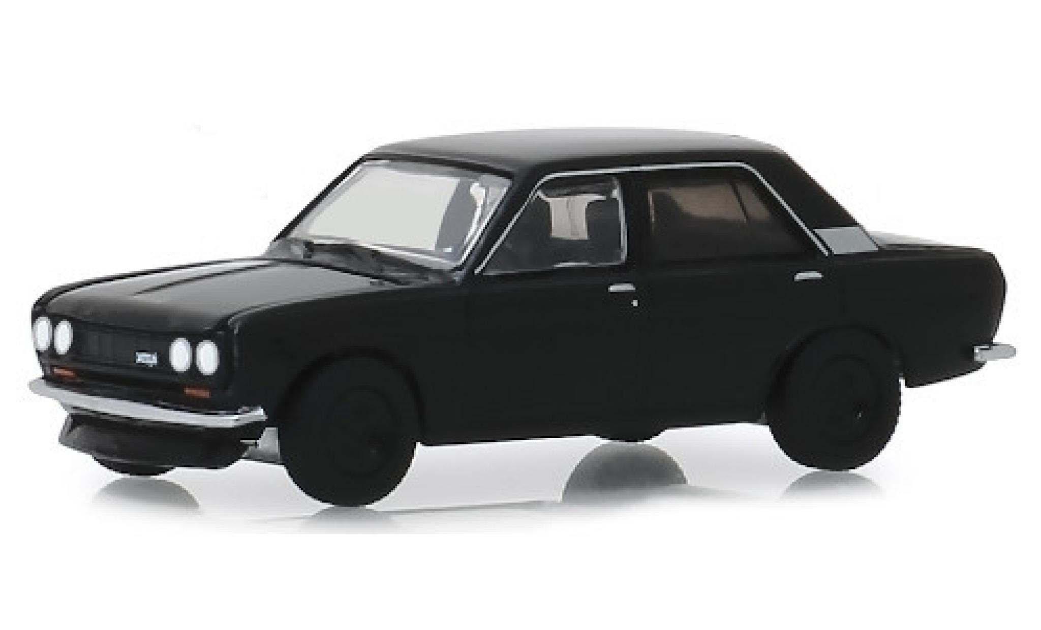 Datsun 510 1/64 Greenlight negro 1970