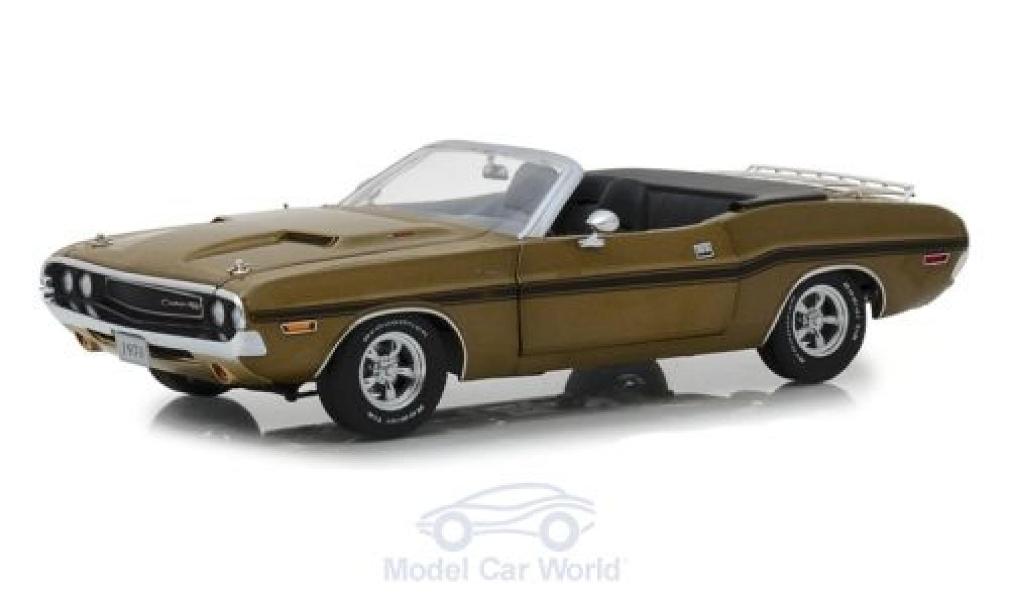 Dodge Challenger 1970 1/18 Greenlight R/T Convertible gold