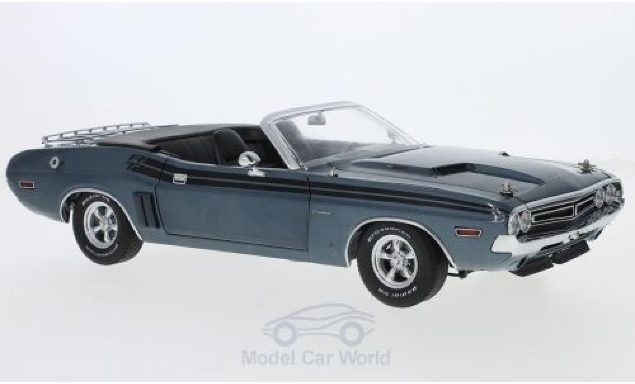 Dodge Challenger 1970 1/18 Greenlight R/T Convertible mettalic blau 1970