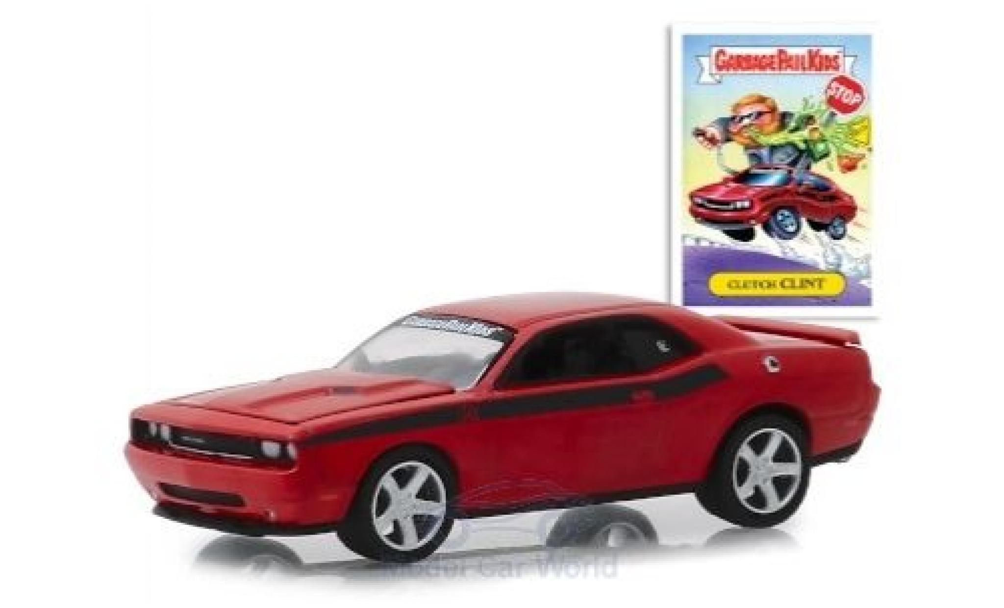 Dodge Challenger 1/64 Greenlight rouge GarbagePailKids 2012 Clutch Clint