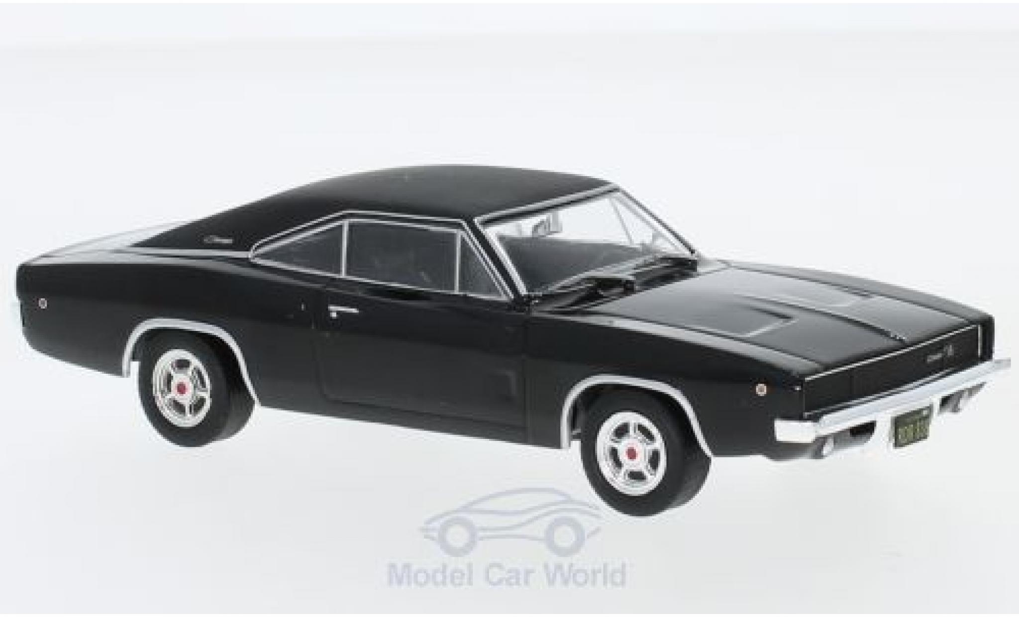 Dodge Charger 1968 1/43 Greenlight R/T black/matt-black Bullitt 1968