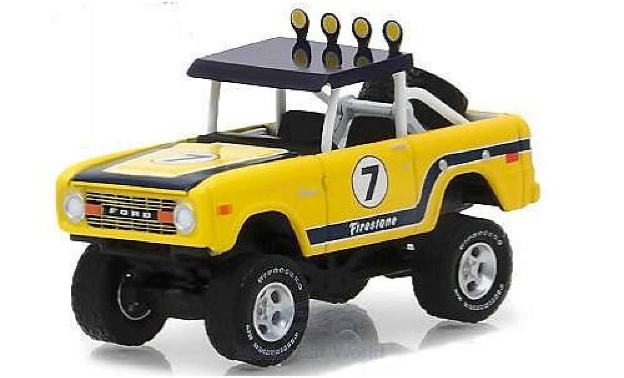 Ford Bronco 1/64 Greenlight Baja jaune 1972
