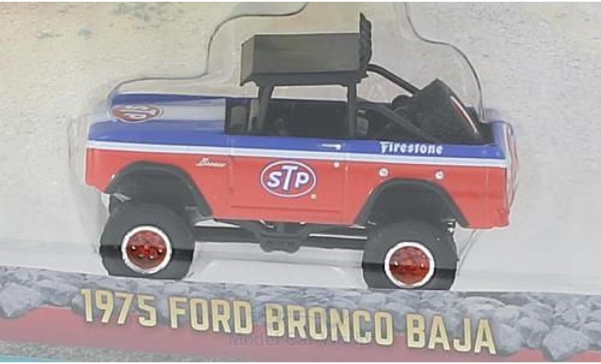 Ford Bronco 1/64 Greenlight Baja STP 1975
