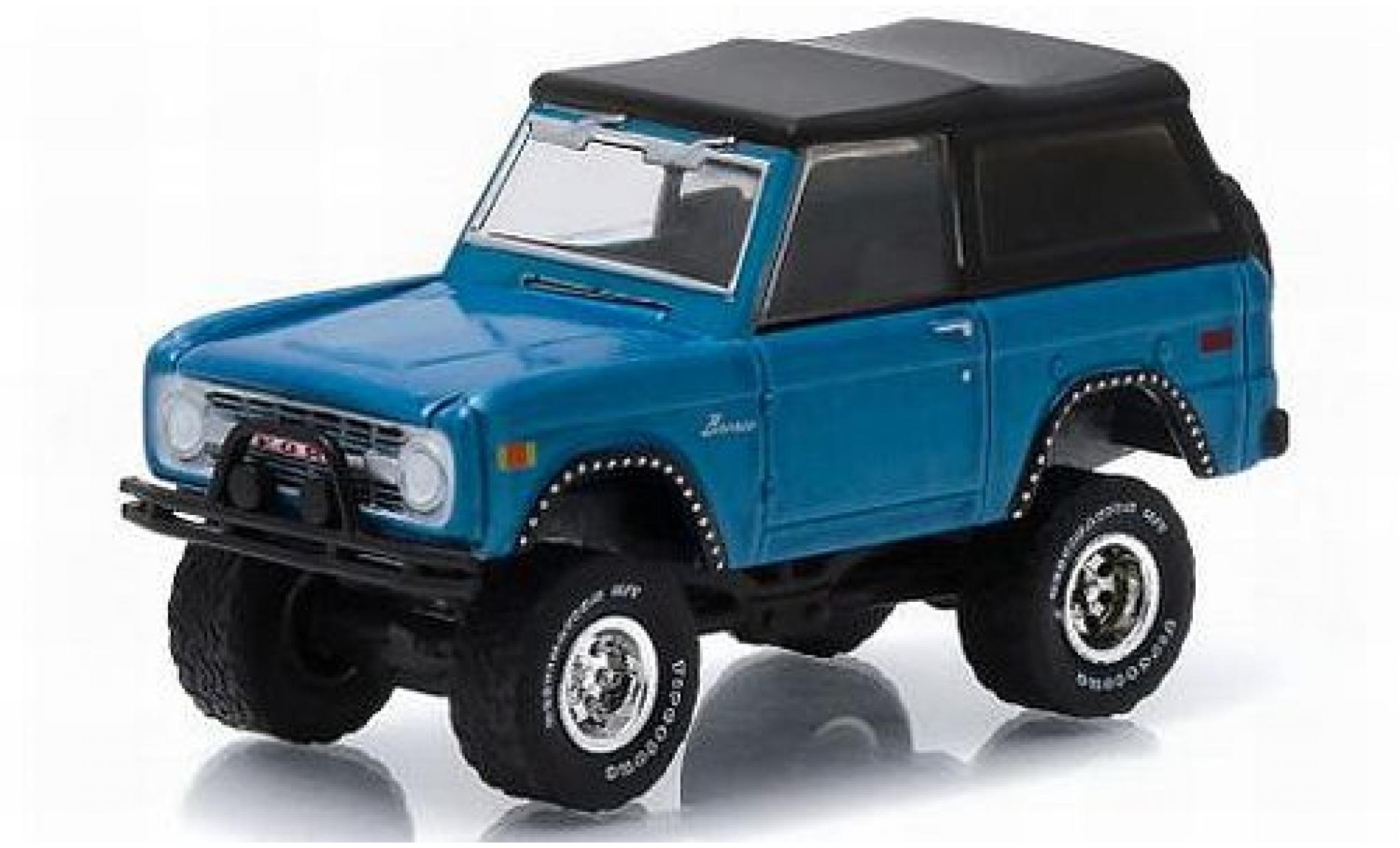 Ford Bronco 1/64 Greenlight metallise bleue 1975 All-Terrain Series 2