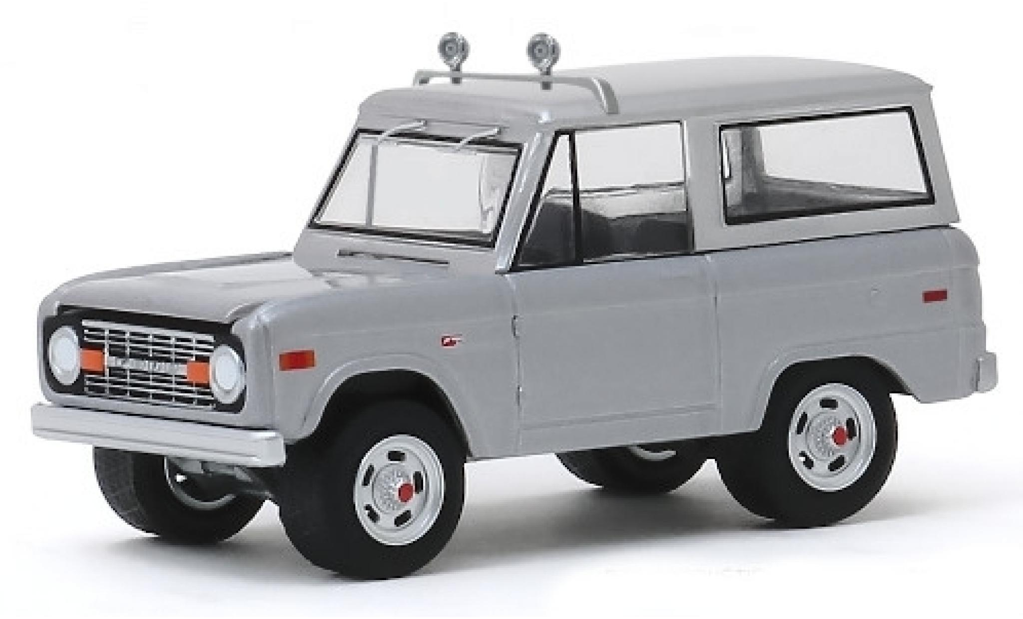 Ford Bronco 1/64 Greenlight grise Speed 1970