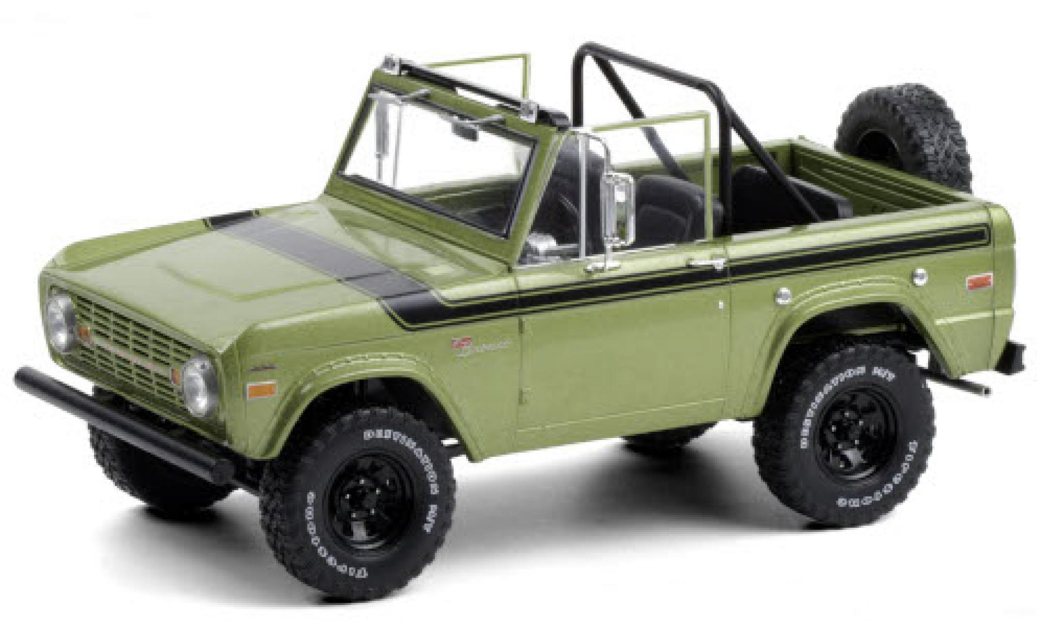 Ford Bronco 1/18 Greenlight Sport metallise green/black 1969