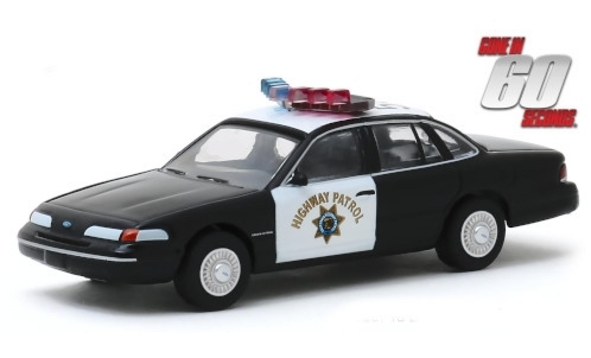 Ford Crown 1/64 Greenlight Victoria Police Interceptor California Highway Patrol 1992 Gone in 60 Seconds