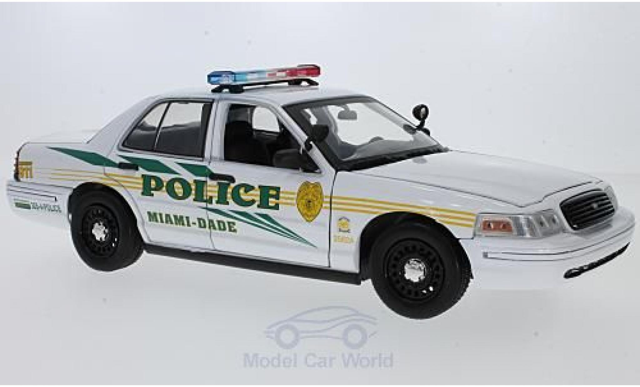 Ford Crown 1/18 Greenlight Victoria Police Interceptor CSI: Miami (TV Serie) 2003