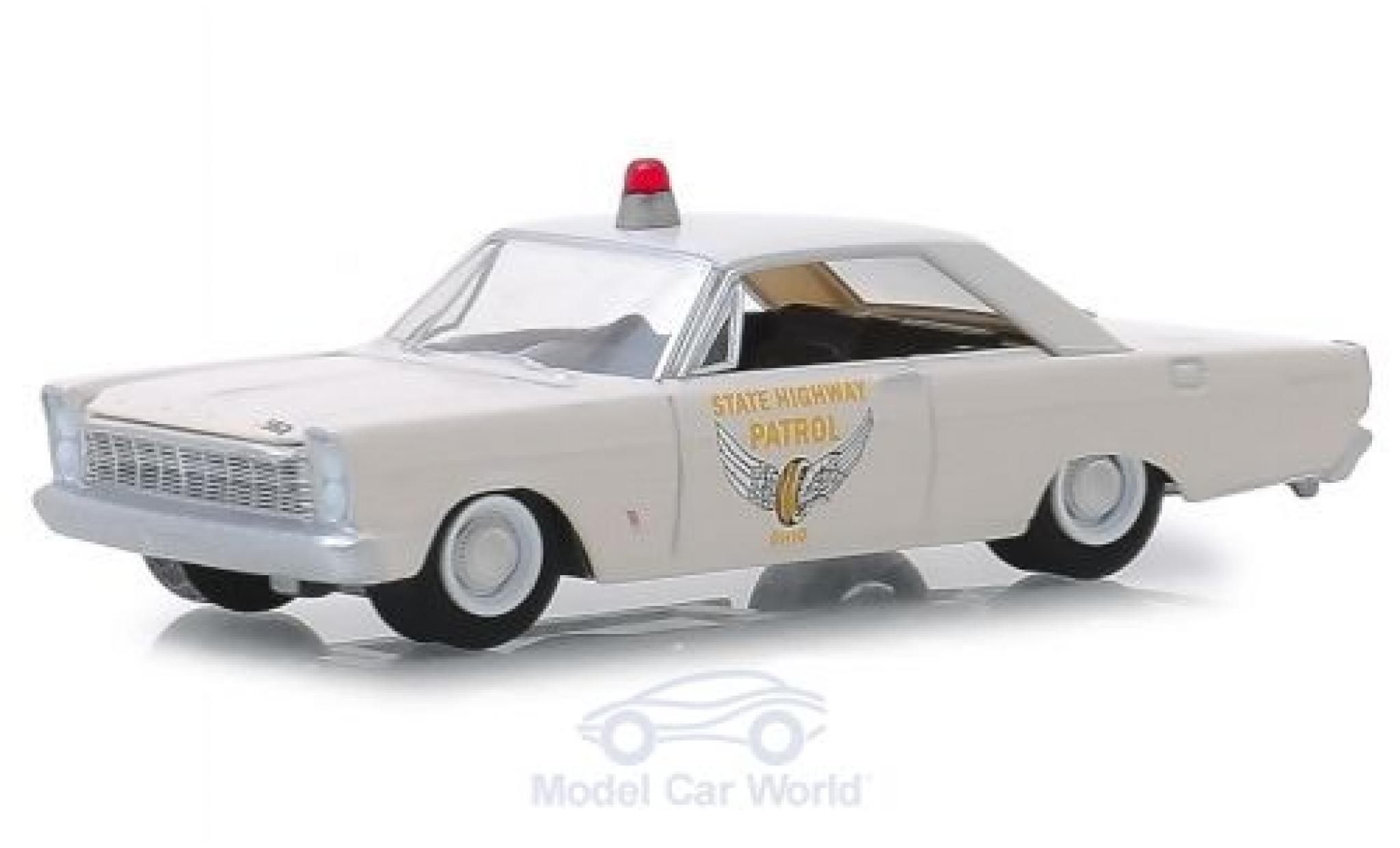 Ford Custom 1/64 Greenlight blanche Ohio State Highway Patrol 1965