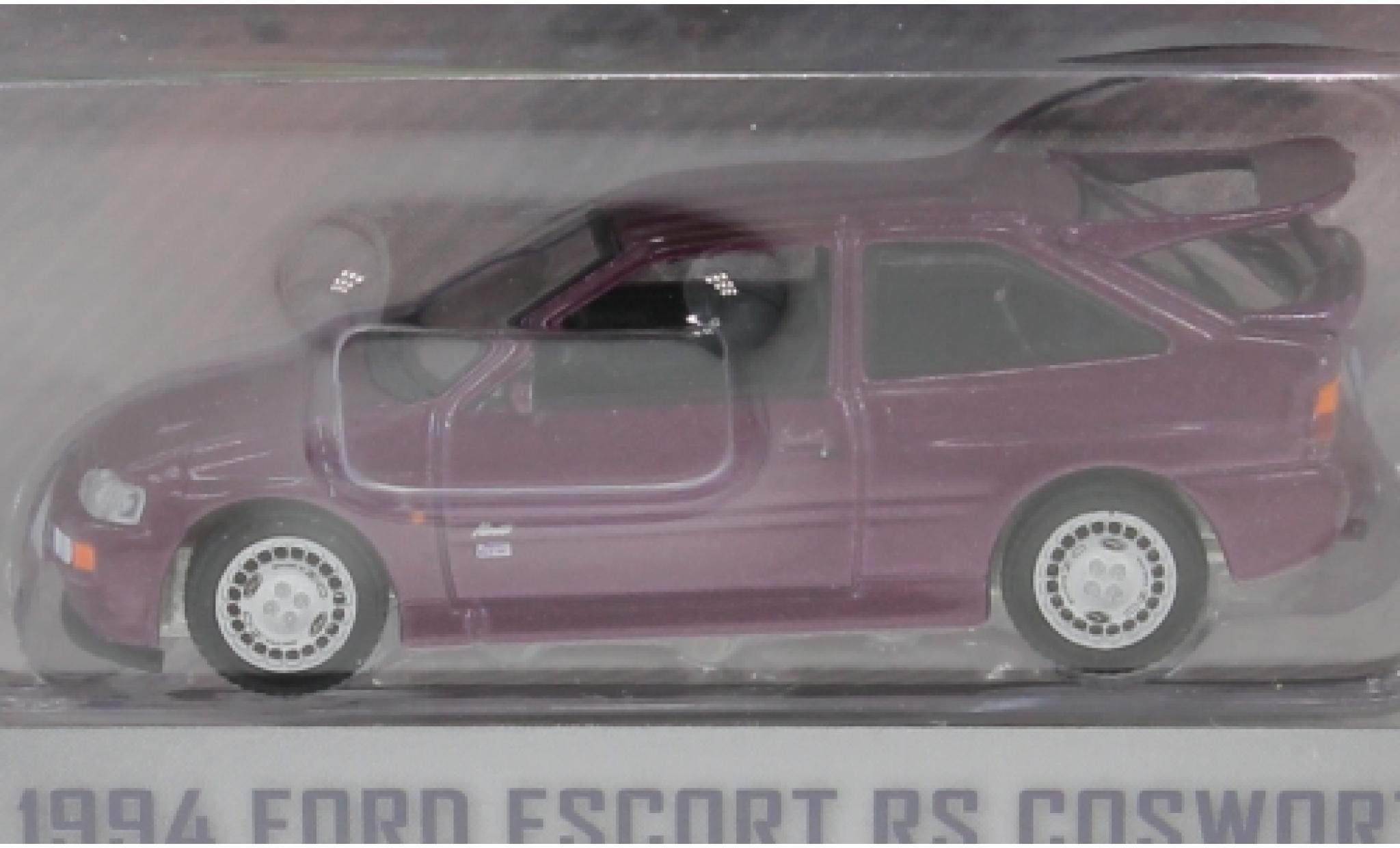 Ford Escort 1/64 Greenlight MkV RS Cosworth metallise lila RHD 1994