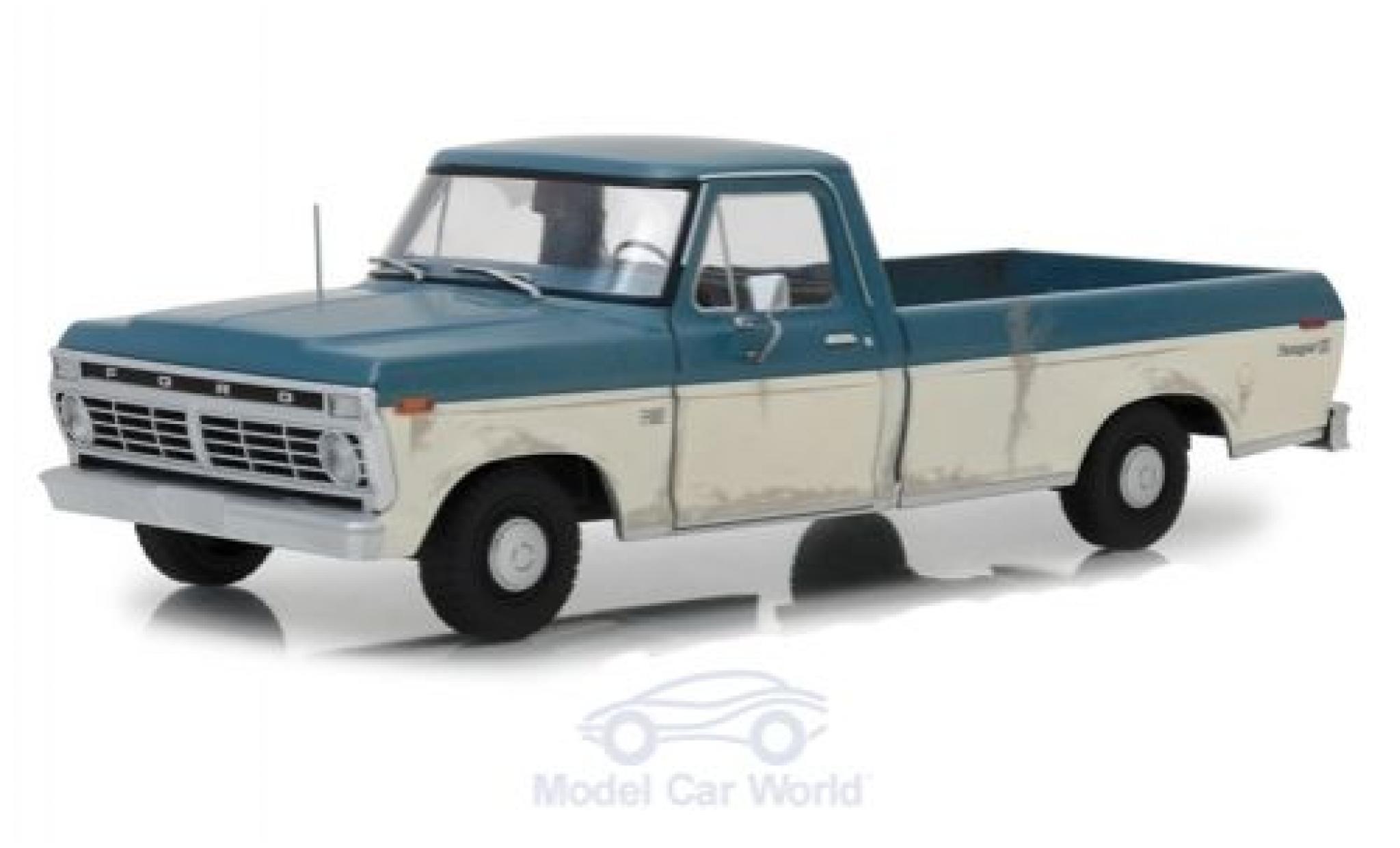 Ford F-1 1/18 Greenlight 00 bleue/blanche The Walking Dead 1973