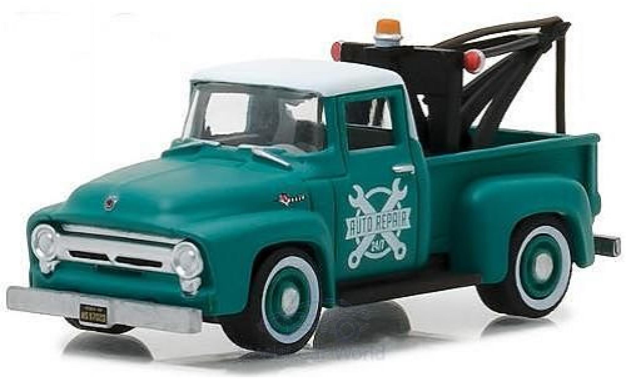 Ford F-1 1/64 Greenlight 00 grün/blanche 1956 Abschleppwagen
