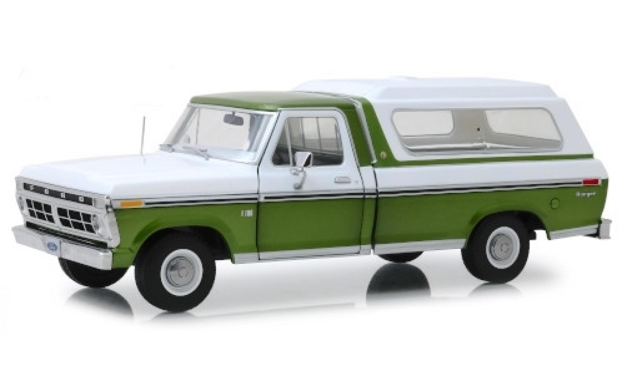 Ford F-1 1/18 Greenlight 00 metallise verte/blanche 1976 avec détachable Ladeabdeckung