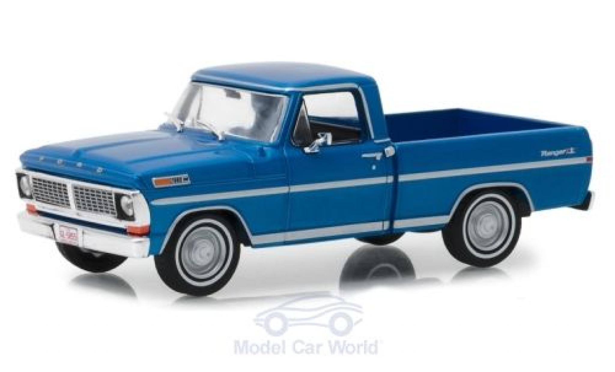 Ford F-1 1/43 Greenlight 00 Pick-Up metallise bleue 1970