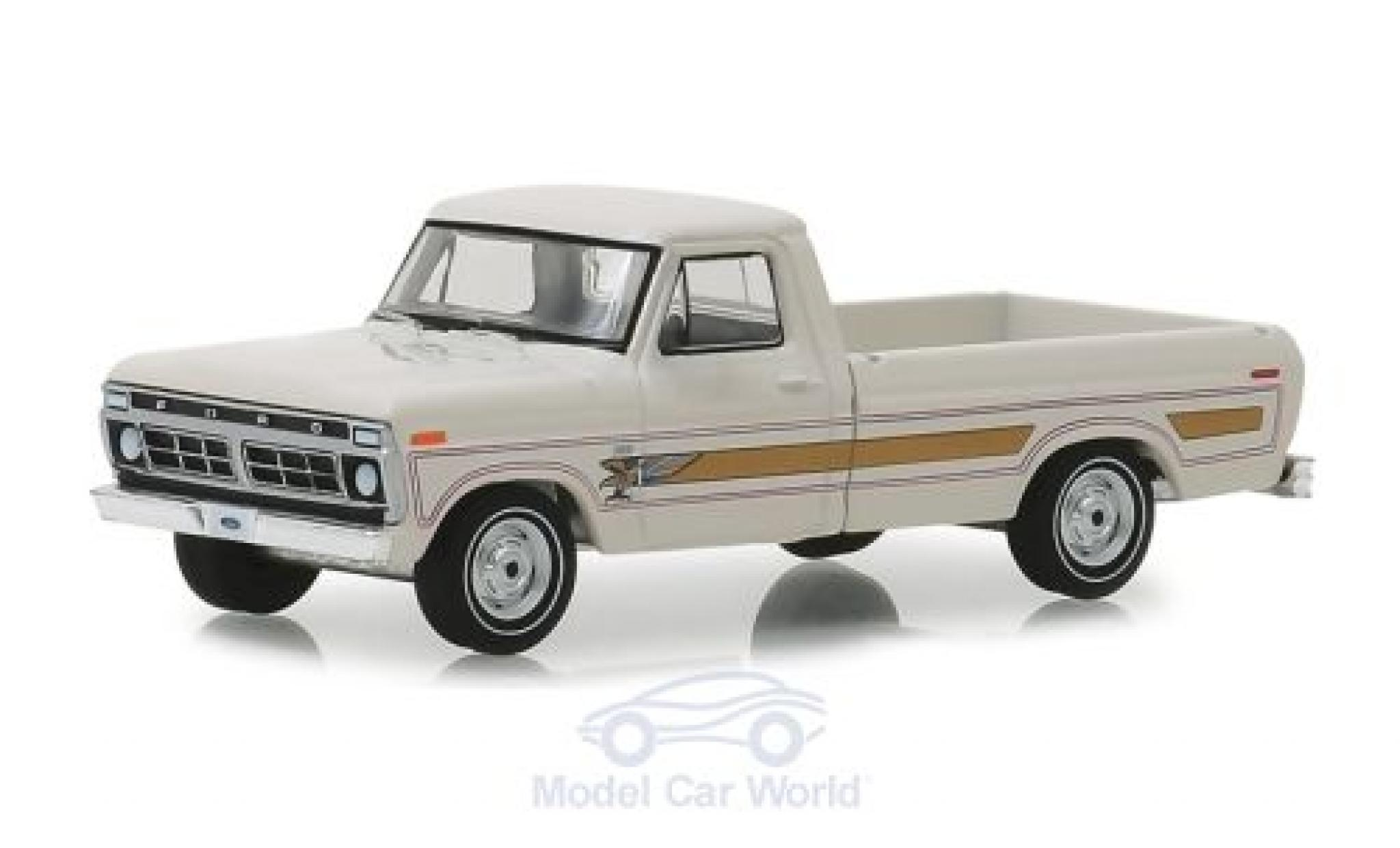 Ford F-1 1/64 Greenlight 00 Pick-Up blanche 1976
